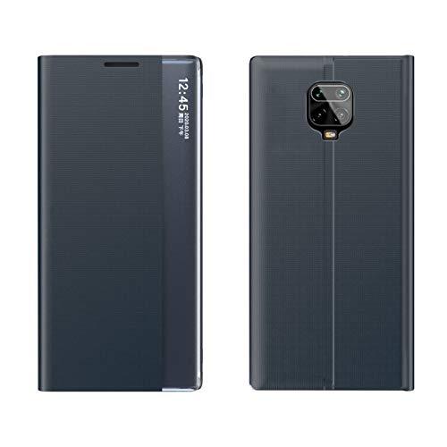 ZAORUN Cubiertas Protectoras de Cellphone Compatible para Xiaomi redmi Nota 9S / Note9 Pro/Pro Nota 9 MAX Lado de la Pantalla magnética Vuelta Horizontal Caja de la PC Textura Normal paño con el sos