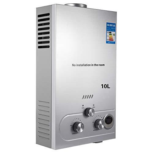 VEVOR 10L-LNG Gas-Warmwasserbereiter Durchlauferhitzer Gas Verflüssigt 16KW LED Bildschirm(10L-LNG)