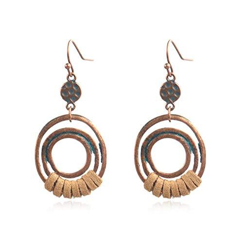 4 Pairs 2021 Retro Bohemian Long Tassel Earrings for Women Fashion Carved Alloy Ethnic Style Earrings Fashion Jewelry