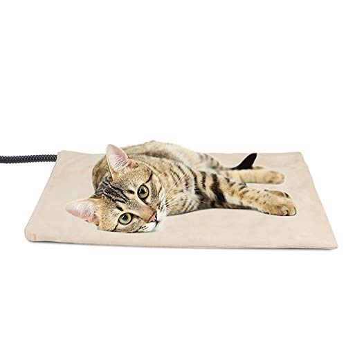 NICREW Pet Heating Pad for Dogs and Cats, Heated Pet Mat with Steel-Wrapped Cord and Soft Fleece Cover, 17.7 x 15.7 Inch, 30 Watts