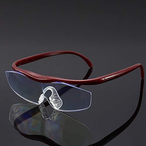 SeniorMar-UK Vision Explosion Modelle Zoom 1,6-Fach Anti-Blau eine Lupe UV400 Lesebrille Für das alte Rot