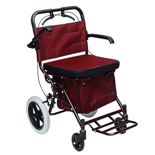 Rollator Walker mit Seat, Comfort Handles und Thick Backrest, Falten Walker, Elderly Hand Push Scooter Shopping Cart,#2
