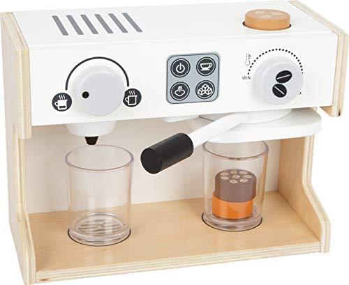 Small Foot 11792 Kaffeemaschine Gastro, aus Holz, mit Zwei Drehknöpfen und beweglichem Siebträger, ab DREI Jahren Toys