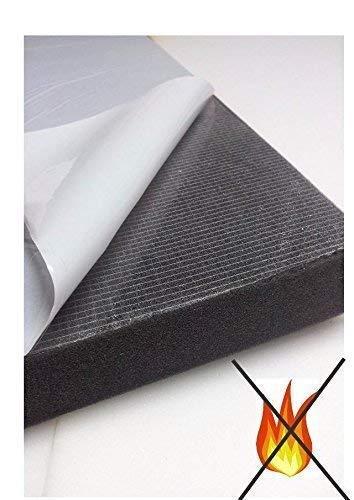 Glatt Schaumstoff SELBSTKLEBEND FOLIE Dämmung Schallschutz Flammhemen- MVSS302d akustik (Mit Selbstklebend, 1 cm)