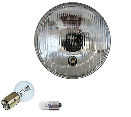 6V Bilux Scheinwerfer Einsatz/Reflektor mit E-Zeichen - inklusive Lampen für Simson S50 S51 10-158