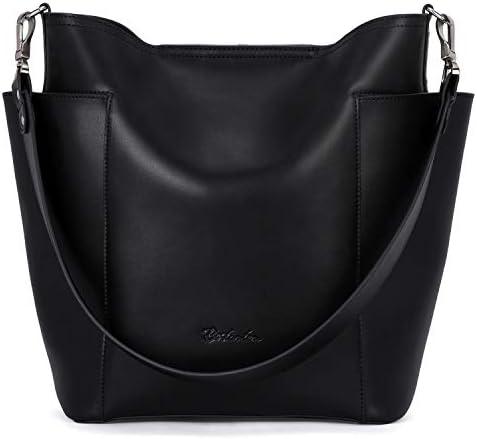 BOSTANTEN Genuine Leather Bucket Handbag Designer Hobo Shoulder Bags Tote Purses and Handbags product image