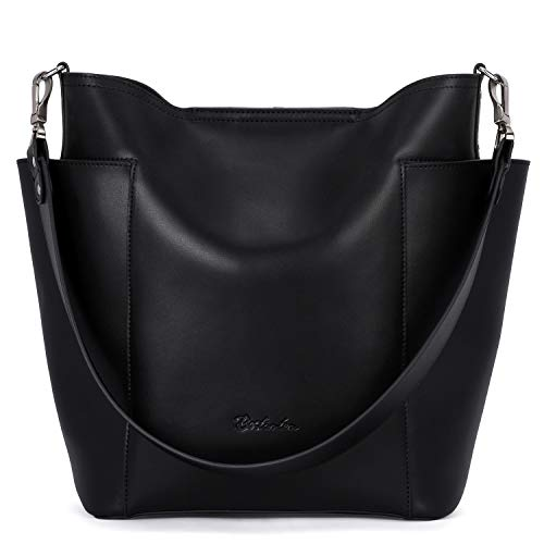 """High Quality: Top Layer Cowhide Leather, high quality silver hardware. Come with metal magnetic buckle closure for extra security. It makes the handbag noble, and it highlights your feminine elegance. Dimensions: (L)9.65""""x(W)5.12""""x(H)12.2"""" inch, and ..."""