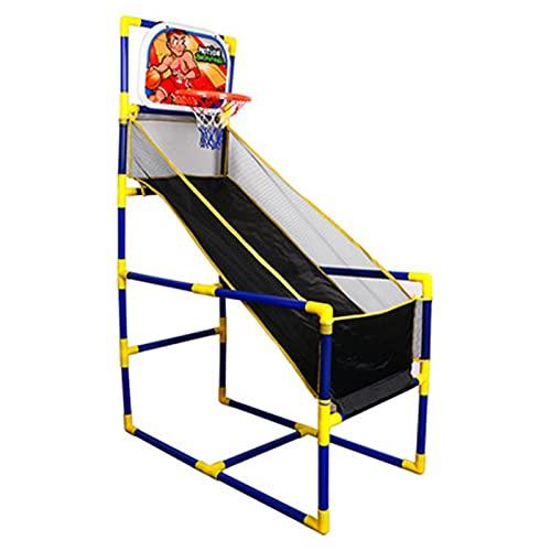 WanuigH Aro de Baloncesto Arcade Juego de Juegos de Baloncesto para niños Conjunto de al Aire Libre Interior con Tablero de aro de Disparar Simple y Divertido (Color : Azul, Size : 132x89x45.5cm)