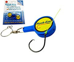 ★ FISHING KNOT TYING TOOL for your fishing gear. Cover fishing hooks on fishing poles and travel safely. Built in Stainless Steel LINE CUTTER Suitable for Saltwater and Freshwater fishing, perfect for use in a Kayak and Ice Fishing. Hook-Eze also he...