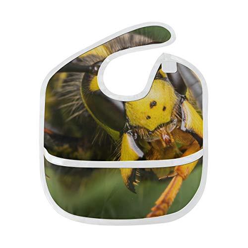 Zemivs Baby Lätzchen Eine Europäische Wespe Benutzerdefinierte Weichen Fleck Baby Fütterung Dribbeln Sabbern Lätzchen Rülpsen Für Kleinkinder 6-24 Monate Eine Europäische Wespe