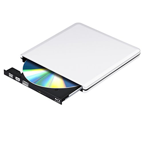 Blu Ray Externe DVD Laufwerk 3D 4K Brenner,USB 3.0 Blueray CD Rom Player Tragbar für PC MacBook iMac os Windows 7/8/10/Vista/XP