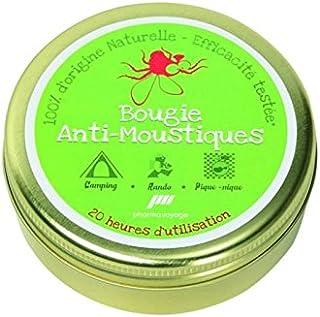3x anti-insectes-bougies Citronella en verre décoratif contre moustiques 7 x 4,5 CM
