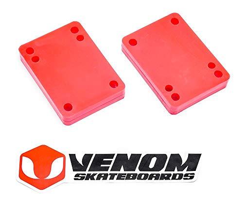 """Venom Skateboards Universal Truck Riser – 1,27 cm – 0,64 cm – 0,8 cm, 1/2"""" Rot"""