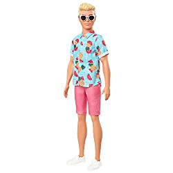 ​The Ken Fashionistas dolls stay cool with trendy looks and individual styles. ​Ken doll wears a tropical fruit-print shirt and coral shorts. ​White shoes and white sunglasses add the finishing touches for a cool and casual look. ​Ken doll has sculpt...