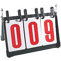3デジタルスコアボードフリップスコアボード、ポータブルテーブルトップスコアボード、スポーツバレーボールレジャーコーチおよびレフリー(数は000から999まで)