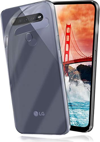 moex Aero Hülle kompatibel mit LG K51S - Hülle aus Silikon, komplett transparent, Klarsicht Handy Schutzhülle Ultra dünn, Handyhülle durchsichtig einfarbig, Klar