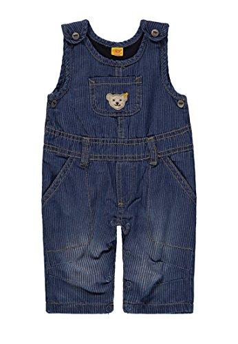 Steiff Baby-Jungen Jeans Latzhose, Blau (Dark Blue Denim Blue 0012), 74