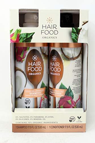 Hair Food Organics Shampoo & Conditioner, 17.9 fl oz