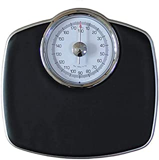 Bathroom Scales Analogue Scale-Mechanical, Retro Black, 180 Kg