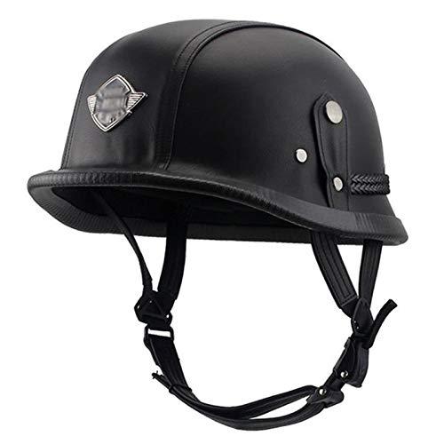 GAOZHE Confortable Casco Moto Retro Abierto, Protección Casco,Profesional Half Moto Helmet para Mujer y Hombre, Adultos,Street,Bike Cruiser Chopper Moped Scooter,ECE Homologado