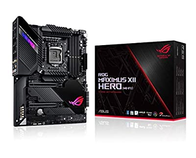 ASUS ROG Maximus XII Hero Z490 (WiFi 6) LGA 1200 (Intel 10th Gen) ATX Gaming Motherboard (14+2 Power Stages, DDR4 4800+, 5Gbps LAN, Intel LAN, Bluetooth v5.1, Triple M.2, Aura Sync)
