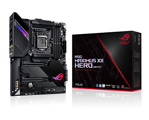 ASUS ROG Maximus XII Hero Z490 (WiFi 6) LGA 1200 (Intel 10th Gen) ATX Gaming Motherboard, 14+2 Power Stages, DDR4 4800+, 5Gbps LAN, Intel LAN