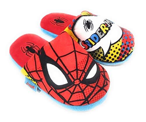 Zapatillas Spiderman Marvel de Estar por Casa - Zapatillas Spiderman Slippers Pantuflas para Niños (Numeric_32)