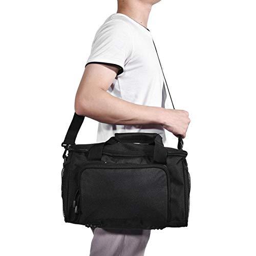 DAUERHAFT Fototasche Single Shoulder Bag Verstellbarer Gurt Langlebig, für Outdoor-Sport, zum Angeln, Reisen(Black)