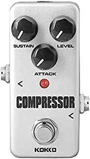 Compressor Guitar Pedal, Mini Effect Processor Fully...