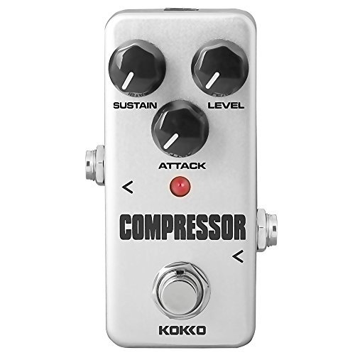 Compressor Guitar Pedal, Mini Effect Processor Fully Analog Circuit Universal for Guitar and Bass, Exclude Power Adapter...
