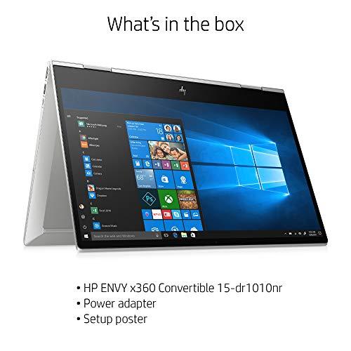HP ENVY x360 Convertible 15-inch FHD Touchscreen 2-in-1 Laptop, 10th Gen Intel Core i7-10510U, 8GB RAM, 512GB SSD, Windows 10 Home, Fingerprint Reader, Webcam Kill Switch (15-dr1010nr, Natural Silver)