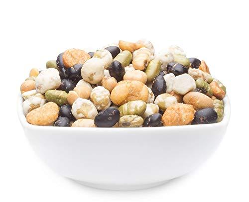 1 x 5kg Snack aus Edame Soja Saubohne und Erbsen geröstet gesalzen mit 28% Protein vegetarisch vegan laktosefrei