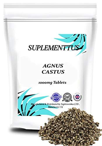 Agnus Castus 1000mg Tablets Natural Supplement - SUPLEMENTTUS UK Manufactured (30)