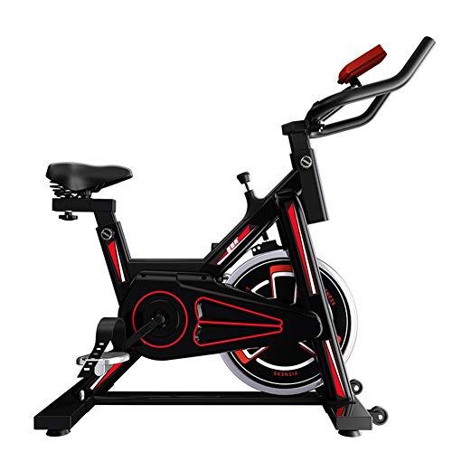 Resistencia ajustable Acero Bicicleta estática Entrenamiento interior Multifuncion Bicicleta de Ejercicios Volantes silenciosos Bicicleta Spinning para Familia oficina etcA-92x45x103cm(36x18x41inch)