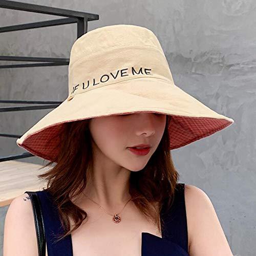 DishyKooker Chapeau de pêcheur double face Motif à carreaux - Vert - Taille Unique