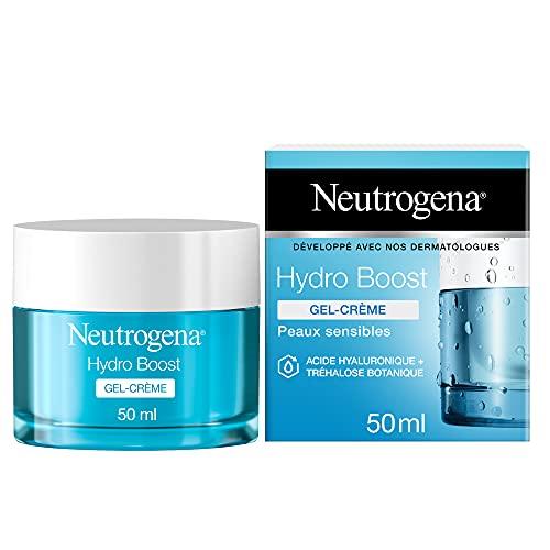 Neutrogena Hydro Boost Gel-Crème Hydratant Visage à l'Acide Hyaluronique, Pour Peaux Sèches, 1 Pot de 50ml