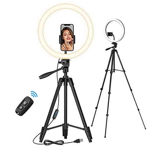 TONOR 12' Large Selfie Ring Light with Stand for Phone, LED Circle Light with Bluetooth Shutter Phone Holder for Zoom TikTok Makeup YouTube Vlog Stream Meeting, Suit for iOS Android iPhone(TRL-20)