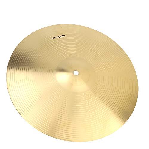 Becken für Schlagzeug, 14 Zoll Durable Brass Cymbal Musikinstrument Zubehör für Drum Set