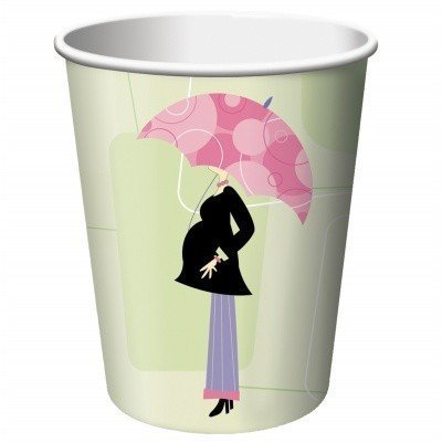 Mod Mom Baby Shower Paper Cups 8ct by Factory Card and Party Outlet