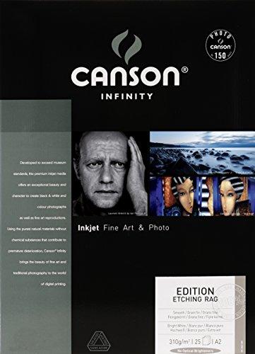 Canson 206211009 Edition Etching Rag Box, Photopapier, A2