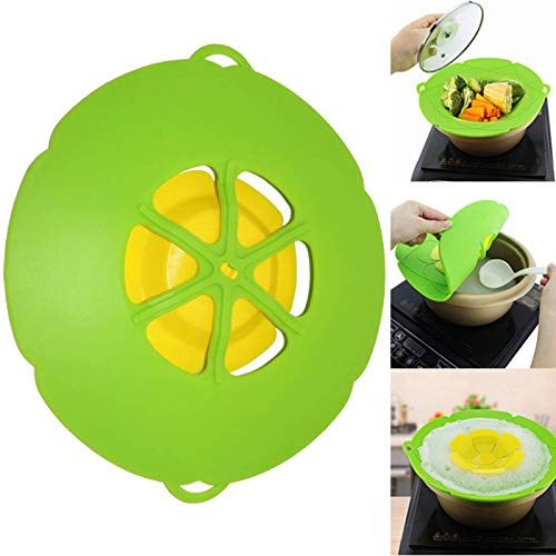 Silicone Splatter Screen Silicone Pan Pot Lid Universal Silicone Over Boiling Protection Splatter Guard Pot Pan Lid Cover Kitchen Silicone Splash Splatter Guard Cooking Water Splash Guard Kitchen