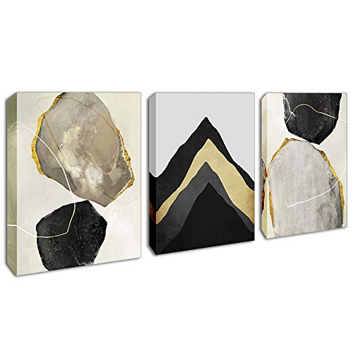 """Wall Art for Bedroom Canvas Prints Artwork Bathroom Wall Decor Abstract Geometry Pictures for Living Room Bedroom Decoration 12""""x16 x3 Pcs"""