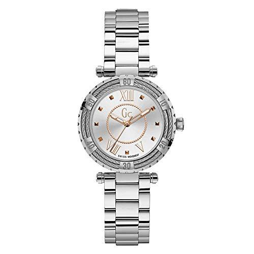 Gc Watches ladydiver Cable Damen Uhr analog Quarzwerk mit Edelstahl Armband Y41001L1