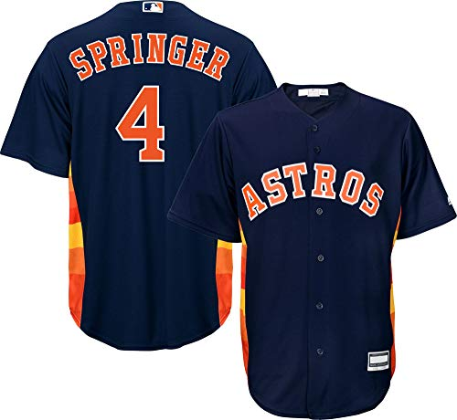 Outerstuff George Springer Houston Astros MLB Boys Youth 8-20 Player Jersey (Navy Alternate, Youth Medium 10-12)