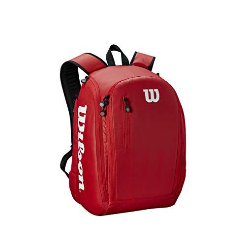 Wilson Tour Backpack Mochila de tenis, para hasta 2 raquetas, unisex, rojo