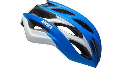 BELL Overdrive Casco de Bicicleta, Unisex Adulto, Azul y Blanco, Small