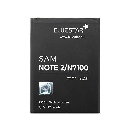 Bluestar Akku Ersatz kompatibel mit Samsung N7100 Galaxy Note 2 3300 mAh Austausch Batterie Accu EB595675LU