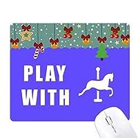 馬ゲーム ゲーム用スライドゴムのマウスパッドクリスマス