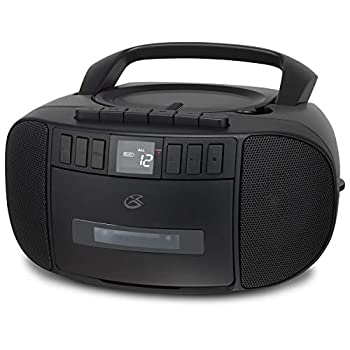 GPX BCA209B Portable Am/FM Boombox with CD and Cassette Player Black
