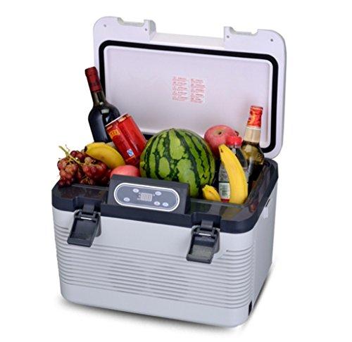 AMYMGLL Réfrigérateur de Voiture (Semi-conducteur)/Réfrigérateur portatif/19L/voiture et Double Usage Domestique (12V/220V), Voyage/Stockage de Boissons, Fruits, cosmétiques, etc.